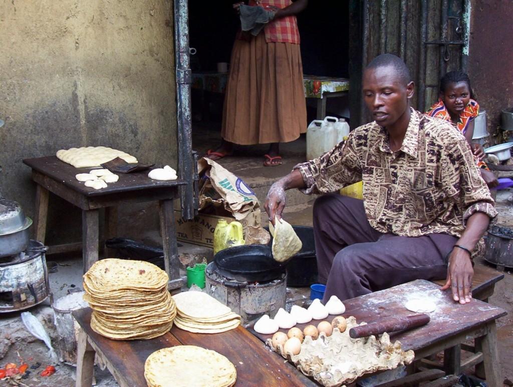 Kochen auf dem Marktstand